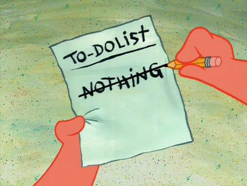Was gibt es heute zu tun? To-Do-Liste von Patrick
