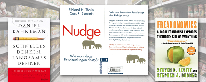nudging-buchauswahl-freakonomics-thaler-kahneman