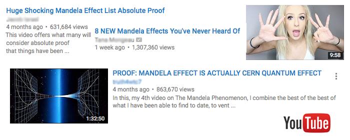Vermeintliche Beweis-Videos auf YouTube